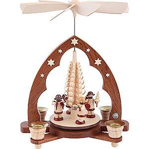 Weihnachtspyramiden 1-stöckige Pyramiden 1-stöckige Pyramide Geschenkengel - 28 cm