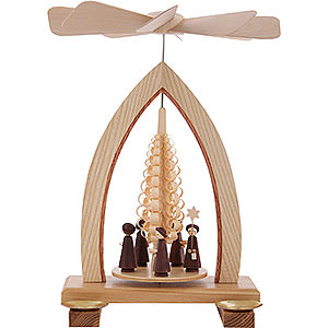 Weihnachtspyramiden 1-stöckige Pyramiden 1-stöckige Pyramide Kurrende - 25 cm