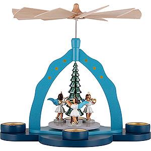 Weihnachtspyramiden 1-stöckige Pyramiden 1-stöckige Pyramide mit Teelichthalter farbig - 30 cm