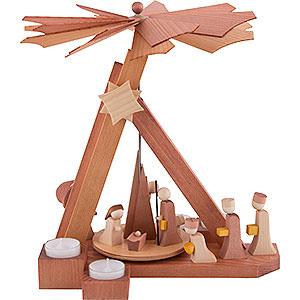 Weihnachtspyramiden 1-stöckige Pyramiden 1-stöckige Pyramide modern Christi Geburt - 30,5 cm