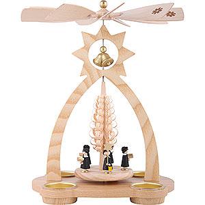 Weihnachtspyramiden 1-stöckige Pyramiden 1-stöckige Glockenpyramide Kurrende - 29 cm