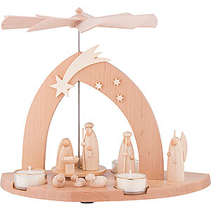 Weihnachtspyramiden 1-stöckige Pyramiden 1-stöckige Pyramide Christi Geburt - 23 cm