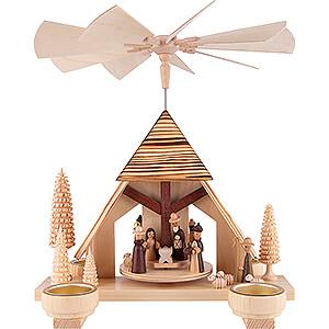 Weihnachtspyramiden 1-stöckige Pyramiden 1-stöckige Pyramide Christi Geburt  - 30 cm