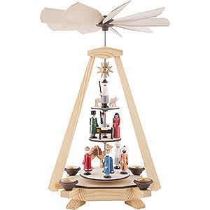 Weihnachtspyramiden 1-stöckige Pyramiden 1-stöckige Pyramide Christi Geburt - 33 cm
