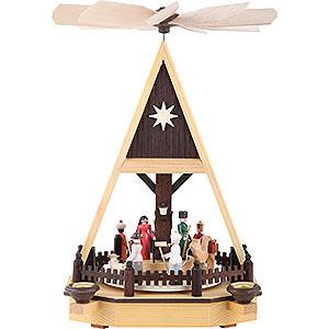 Weihnachtspyramiden 1-stöckige Pyramiden 1-stöckige Pyramide Christi Geburt - 34 cm