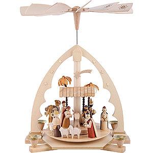 Weihnachtspyramiden 1-stöckige Pyramiden 1-stöckige Pyramide Christi Geburt - 40 cm