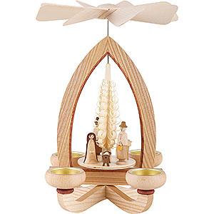 Weihnachtspyramiden 1-stöckige Pyramiden 1-stöckige Pyramide Christi Geburt - natur - 28 cm