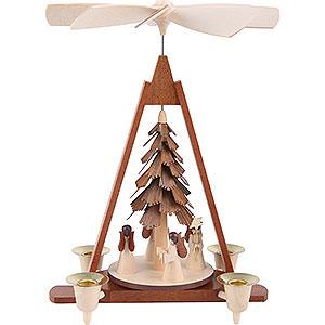 Weihnachtspyramiden 1-stöckige Pyramiden 1-stöckige Pyramide Engel - 29 cm
