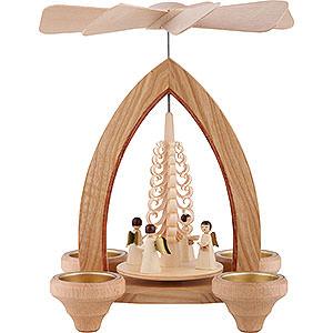 Weihnachtspyramiden 1-stöckige Pyramiden 1-stöckige Pyramide Engel - natur - 26 cm