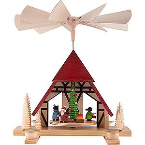 Weihnachtspyramiden 1-stöckige Pyramiden 1-stöckige Pyramide Kinderweihnacht  - 29 cm