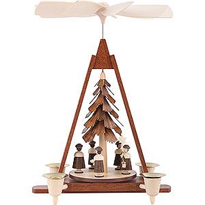 Weihnachtspyramiden 1-stöckige Pyramiden 1-stöckige Pyramide Kurrende - 29 cm