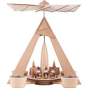 Weihnachtspyramiden 1-stöckige Pyramiden 1-stöckige Pyramide Kurrende Seiffen natur - 29 cm