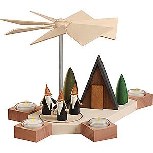 Weihnachtspyramiden 1-stöckige Pyramiden 1-stöckige Pyramide Octogonum Bergwichtel - 23 cm