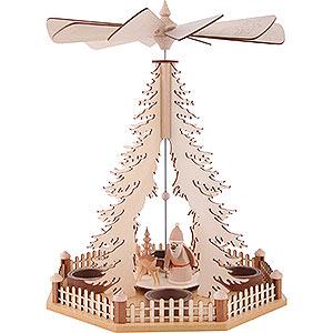 Weihnachtspyramiden 1-stöckige Pyramiden 1-stöckige Pyramide Ruprecht - 30 cm