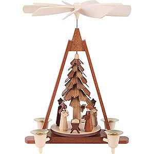 Weihnachtspyramiden 1-stöckige Pyramiden 1-stöckige Weihnachtspyramide - Christi Geburt - 29 cm