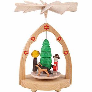Weihnachtspyramiden 1-stöckige Pyramiden 1-stöckiges Wärmespiel Familie - 10 cm