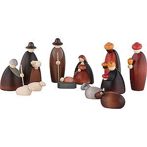 Kleine Figuren & Miniaturen Björn Köhler Krippe klein 12-teiliges Krippenset - 12 cm