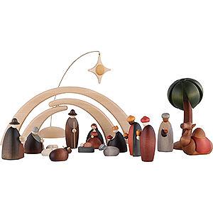 Kleine Figuren & Miniaturen Björn Köhler Krippe klein 17-teiliges Krippenset inklusive Stall und Stern
