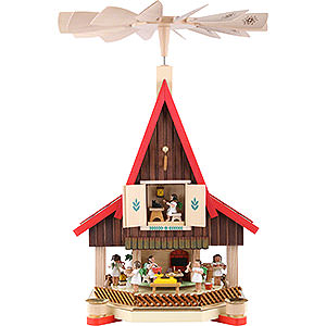 Christmas-Pyramids 2-tier Pyramids 2-Tier Advent's House Angel's Bakery - 53 cm / 21 inch