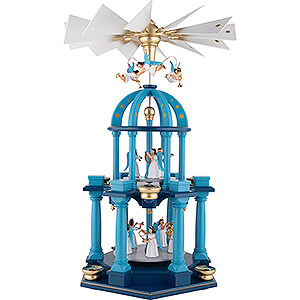 2-Tier Pyramid - Colored with Eleven Longskirt Angels - 55 cm / 21.7 inch