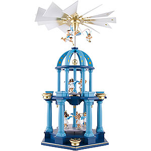 Christmas-Pyramids 2-tier Pyramids 2-Tier Pyramid - Eleven Angels, Colored - 55 cm / 21.7 inch