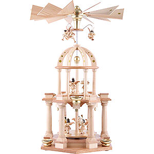 Christmas-Pyramids 2-tier Pyramids 2-Tier Pyramid - Eleven Angels Natural - 30x55 cm / 11.8x21.7 inch