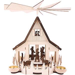 Christmas-Pyramids 2-tier Pyramids 2-Tier Pyramid - 'Forest Hut' - 32 cm / 12.5 inch