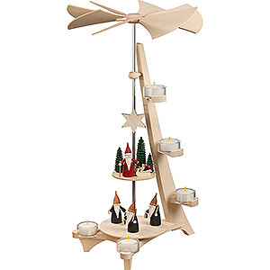 Christmas-Pyramids 2-tier Pyramids 2-Tier Pyramid - L-Shape Mountain Gnome and Christmas Gnome - 50 cm / 19.7 inch