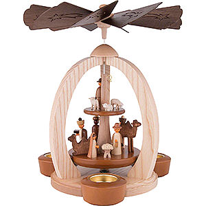 Christmas-Pyramids 2-tier Pyramids 2-Tier Pyramid Nativity - Exclusive - 28 cm / 11 inch