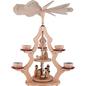 Weihnachtspyramiden 2-stöckige Pyramiden 2-stöckige Pyramide Christi Geburt - 47 cm