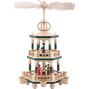 Weihnachtspyramiden 2-stöckige Pyramiden 2-stöckige Pyramide Heilige Geschichte - 40 cm