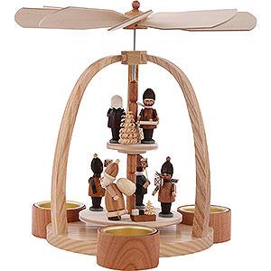 Weihnachtspyramiden 2-stöckige Pyramiden 2-stöckige Pyramide Striezelkinder - 24 cm