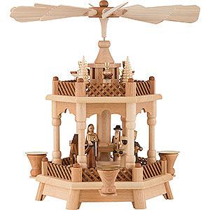 Weihnachtspyramiden 2-stöckige Pyramiden 2-stöckige Pyramide Christi Geburt - 32 cm