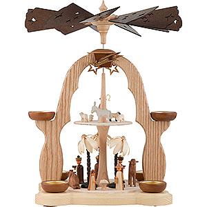 Weihnachtspyramiden 2-stöckige Pyramiden 2-stöckige Pyramide Christi Geburt - 40 cm