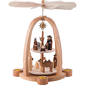 Weihnachtspyramiden 2-stöckige Pyramiden 2-stöckige Pyramide Christi Geburt - 41 cm