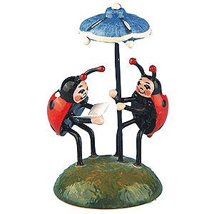 Kleine Figuren & Miniaturen Hubrig Blumenkinder 2er Set Marienkäferduett - 4,5 cm