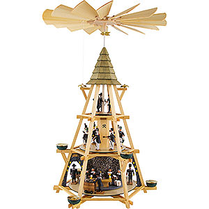 Christmas-Pyramids 3-tier Pyramids 3-Tier Capstan Pyramid Early Mass Shift - 70 cm / 27.5 inch