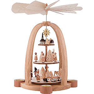 Christmas-Pyramids 3-tier Pyramids 3-Tier Pyramid - Christmas Time - 41 cm / 16 inch