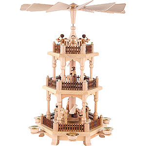 Christmas-Pyramids 3-tier Pyramids 3-Tier Pyramid - Christmas Time - 45 cm / 18 inch