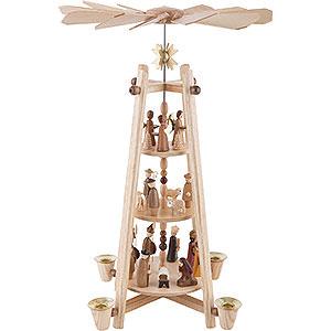 Christmas-Pyramids 3-tier Pyramids 3-Tier Pyramid - Nativity Scene - 44 cm / 16 inch