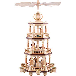Christmas-Pyramids 3-tier Pyramids 3-Tier Pyramid - The Christmas Story - 51 cm / 20 inch