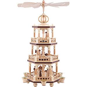 Weihnachtspyramiden 3-stöckige Pyramiden 3-stöckige Pyramide Heilige Geschichte - 51 cm