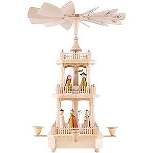 Weihnachtspyramiden 3-stöckige Pyramiden 3-stöckige Pyramide Christi Geburt - 45 cm