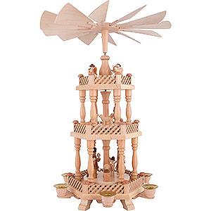 Weihnachtspyramiden 3-stöckige Pyramiden 3-stöckige Pyramide Christi Geburt - 46 cm