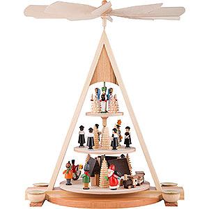 Weihnachtspyramiden 3-stöckige Pyramiden 3-stöckige Pyramide Erzgebirgsweihnacht - 24 cm