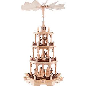 Weihnachtspyramiden 3-stöckige Pyramiden 3-stöckige Pyramide Waldleute - 58 cm