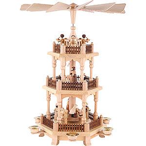 Weihnachtspyramiden 3-stöckige Pyramiden 3-stöckige Pyramide Zur Weihnacht - 45 cm
