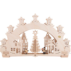 Candle Arches Fret Saw Work 3D Candle Arch - Christmas Market - 52x32 cm / 20.5x12.6 inch