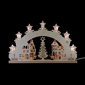 Candle Arches All Candle Arches 3D Candle Arch - 'Christmas Market' - 52x32x4,5 cm / 20.5x12.5x1.7 inch