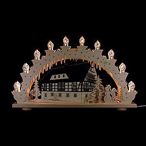 Candle Arches All Candle Arches 3D Candle Arch - 'Half Timbered House' - 66x39x6 cm / 26x15x2.3 inch